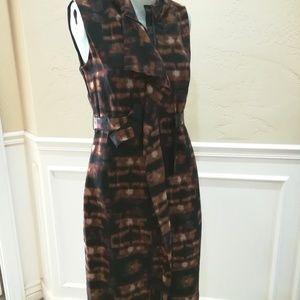 Elie Tahari gorgeous black and brown dress